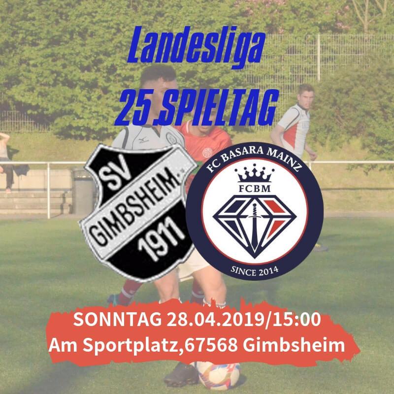 【トップチーム】 第25節 vs SV Gimbsheim 試合情報