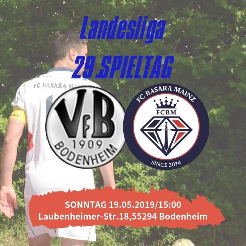 【トップチーム】第29節 vs VfB Bodenheim 試合情報